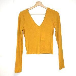 NWOT Ribbed Mustard Love, Fire Shirt